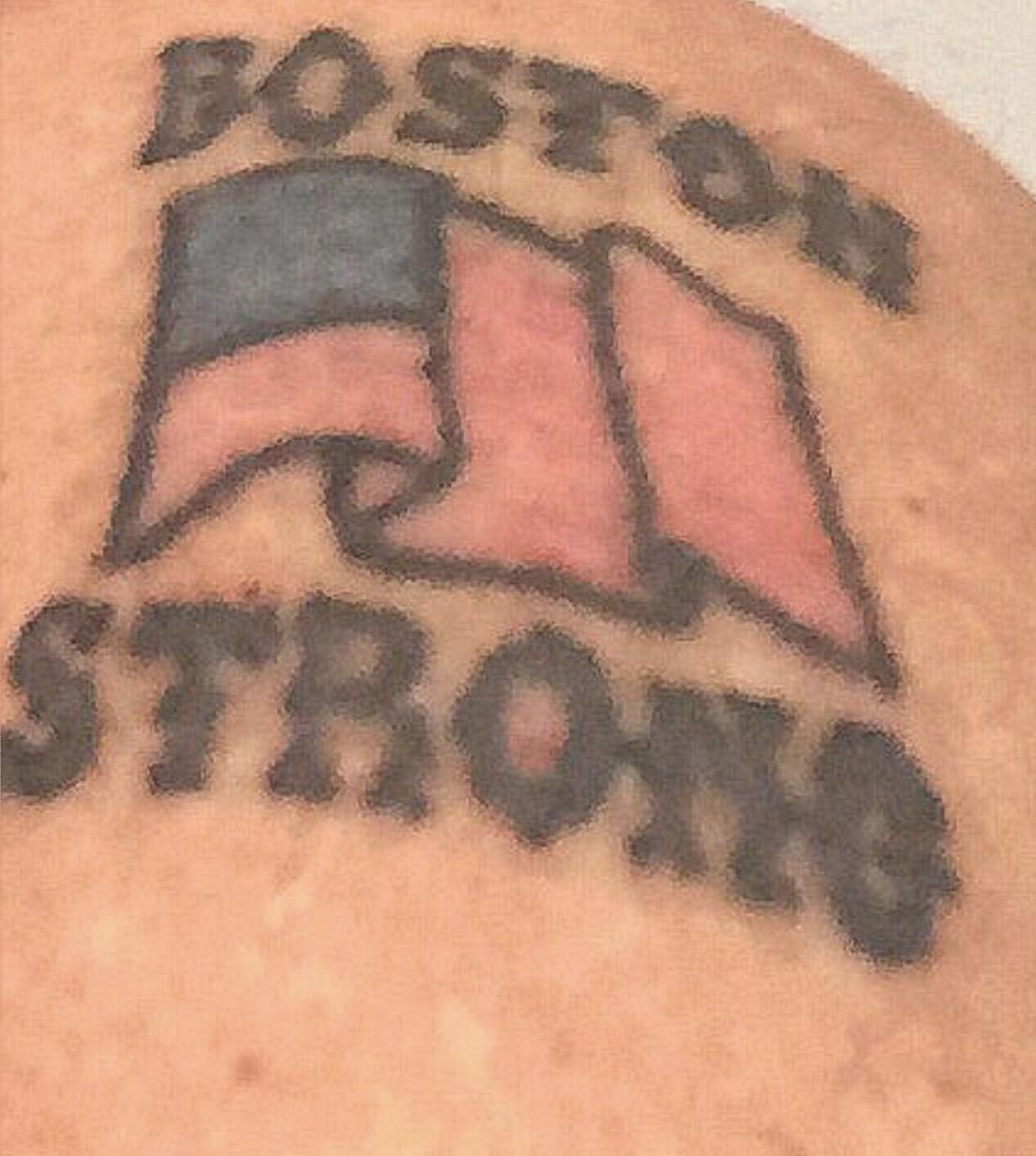 Boston Marathon Memorial Tattoo